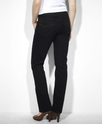 Джинсы Levis Women 505™ Straight Leg | Black Ink